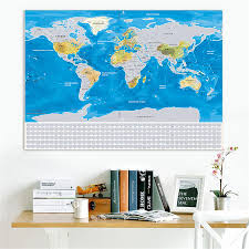 World Map With Flags Globetrotter Scratchable World Map Silver World Flags Edition