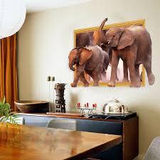 online get cheap wall sticker 3d elephant aliexpress com