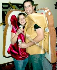 Peanut Butter And Jelly Costume Coolest Homemade Peanut Butter And Jam Halloween Couple Costume