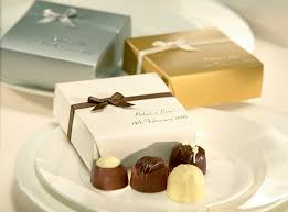customized wedding favors o briens chocolate favours elite collection 4 choc