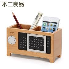 Wood Desk Accessories Wooden Pen Creative Fashion Office Supplies Stationery Desk Box