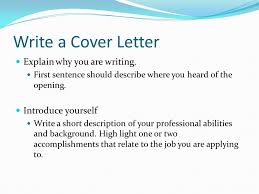 managing life skills write a cover letter a cover letter tells