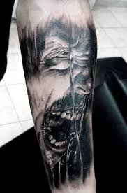 horror portrait arm tattooed tattoos arm
