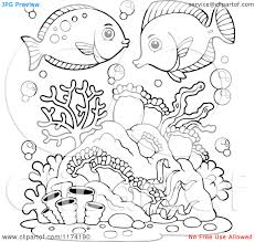 reef black and white clipart 2177575