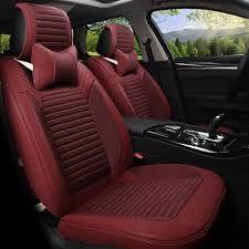 housse de si es auto voiture style housse de siège pour 5 siège véhicule linge cuir