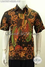 desain baju batik halus baju batik pria desain kekinian hem lengan pendek batik halus nan