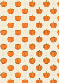 free printable pumpkin pattern paper just draw faces in