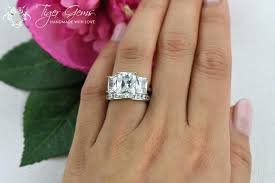 wedding band with engagement ring wedding band for three engagement ring 6 3 radiant and