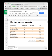 How To Make A Simple Budget Spreadsheet by How To Write A Content Marketing Strategy W Template