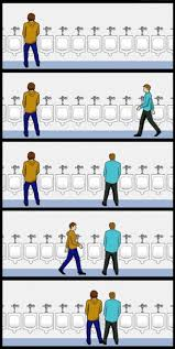 Urinal Checkmate Meme - urinal etiquette image gallery sorted by low score know your meme