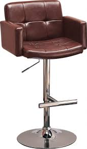 Bar Stool With Arms And Back Bar Stools Adjustable Height Stool With Wheels Heavy Duty Shop