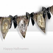 printable halloween banner flags bunting garland steampunk