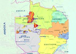 Angola Map Zambia Angola Map