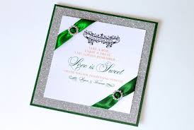 embellished paperie blog gorgeous emerald green and silver