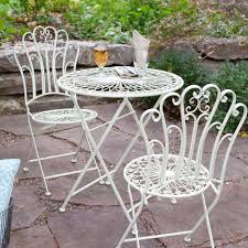 Wrought Iron Patio Table Set by Charming Stone Patio Table Sets With Travertine Natural Stone