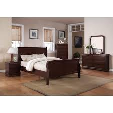 Louis Bedroom Furniture Louis Philip Cherry 9 Piece Bedroom Set Price Busters
