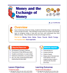 money and the exchange of money teaching resource for key stage 1