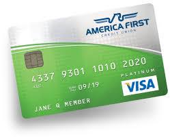 visa platinum credit card america credit union