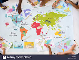 World Continents And Oceans Map by Kids Learning World Map With Continents Countries Ocean Geography