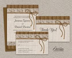 rustic wedding invitation kits diy printable rustic wedding invitation sets burlap and lace
