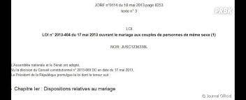 loi du mariage pour tous la loi sur le mariage pour tous publiée samedi au journal officiel
