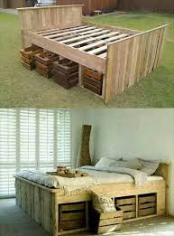Woodworking Plans For A King Size Storage Bed by Best 25 Diy Bed Frame Ideas On Pinterest Pallet Platform Bed