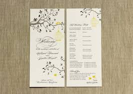 wedding bulletins everything you need to about wedding programs