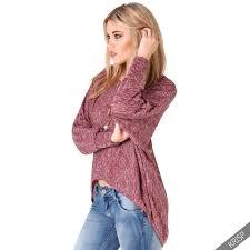 high sweaters womens oversized casual marl print sweater jumper tunic shirt
