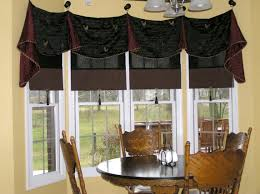 concerting wooden dining table in window treatment ideas for bay