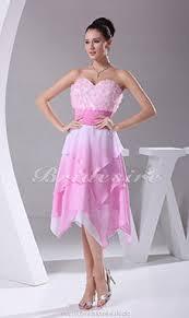 a linie herzausschnitt knielang chiffon brautjungfernkleid mit gestupft p551 bridesire wadenlang cocktailkleider wadenlang