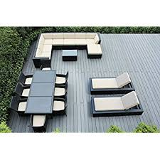 Free Patio Furniture Amazon Com Genuine Ohana Outdoor Sectional Sofa Dining And