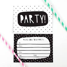 birthday invitations black and white party invitations sansalvaje