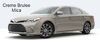 2017 toyota avalon exterior paint color options and choices