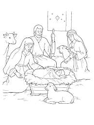 nativity coloring nativity jesus christmas printable