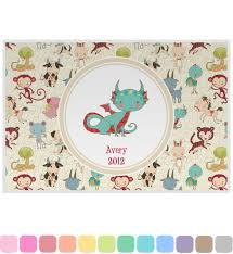 zodiac placemat zodiac placemat laminated personalized baby n toddler
