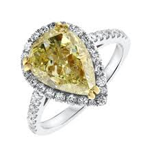 pear shaped gold engagement rings 18kt white gold engagement ring with center 3 21ct fancy