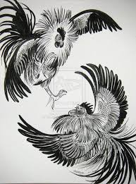 fighting rooster drawing search things to do
