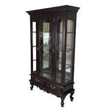 mahogany china cabinet furniture mahogany furniture chippendale style single door glass display
