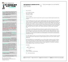 Semi Block Format Business Letter Example by Writing A Business Letter The Best Letter Sample