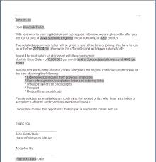 offer letter an example not mine of an offer letter can be seen