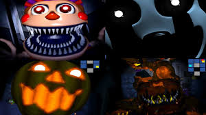 anime halloween gif fnaf 4 halloween edition all jumpscares youtube
