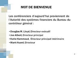 bureau gouvernement du canada la gérance des systèmes de gestion financière au sein du