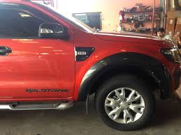 Ford Ranger 2014 Model Wildtrak Gray Fender Flares Wheel Arch 4door Double Cab Ford