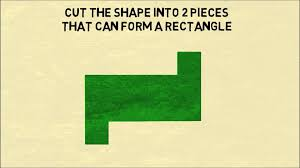 math puzzler can you make a rectangle with one cut youtube