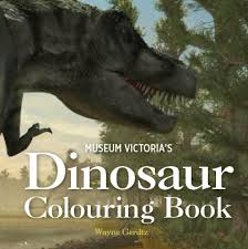 dinosaur colouring book museums victoria