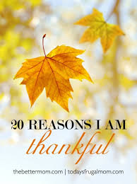 20 reasons i am thankful the better