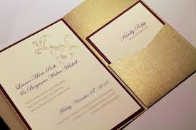 pocket invites gold shimmer pocketfold invitation suite custom invitations