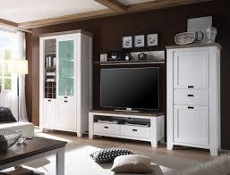 Wohnzimmerschrank Kolonial Wohnwand Barnelund Akazie Weiß 4 Teilig Medienwand Tv Wand Tv