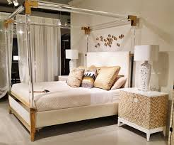 top 6 trends from spring market 2016 hoffer furniture bernhardt uses acrylic in all the right places on this canopy bed