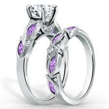 amethyst engagement ring sets jewels chic ring set evolees vintage four prong setting big